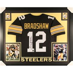 Terry Bradshaw Signed Steelers 35x43 Custom Framed Jersey (JSA COA  Bradshaw Hologram)