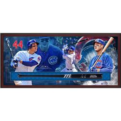 "Anthony Rizzo Signed Cubs 49.5"" x 23.5"" x 3.25"" Custom Framed Marucci Game Model Baseball Bat Shadow"