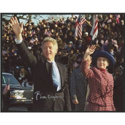 Bill Clinton  Hillary Clinton Signed 8x10 Photo (JSA LOA)