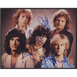 Aerosmith 8x10 Photo Signed by (5) With Steven Tyler, Joe Perry, Tom Hamilton, Joey Kramer (JSA LOA)