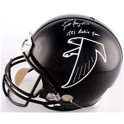 "Brett Favre Signed Falcons Full-Size Authentic Pro-Line Helmet Inscribed ""1991 Rookie Year"" (Radtke"