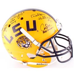LSU Tigers Full-Size Helmet Signed by (10) with Bill Cannon, Alley Broussard, Ron Estay, Justin Vinc