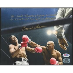 Earnie Shavers Signed 8x10 Photo Vs. Muhammad Ali with Extensive Inscription (PSA COA  Shavers Holog