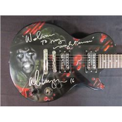 "Alice Cooper Signed Full-Size Epiphone Electric Guitar with Airbrushed Portrait Inscribed ""Welome to"