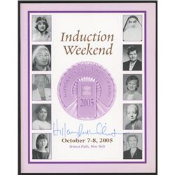 "Hillary Clinton Signed ""2005 National Women's Hall of Fame Induction Weekend"" Program With Full-Name"