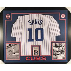 Ron Santo Signed Cubs 36x44 Custom Framed Display with Jersey  Signed Card (PSA Encapsulated)