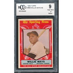1959 Topps #563 Willie Mays AS (BCCG 9)