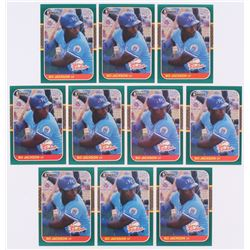 Lot of (10) 1987 Donruss Rookies #14 Bo Jackson