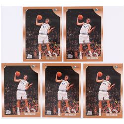 Lot of (5) 1998-99 Topps #154 Dirk Nowitzki RC