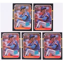 Lot of (5) 1987 Donruss #36 Greg Maddux RC