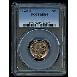 1936-S Buffalo Nickel (PCGS MS 66)
