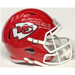 Kareem Hunt Signed Chiefs Full-Size Helmet with (4) NFL Debut Record Stat Inscriptions (JSA COA)