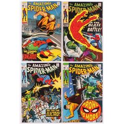 Lot of (4) Vintage The Amazing Spider-Man Marvel Comic Books