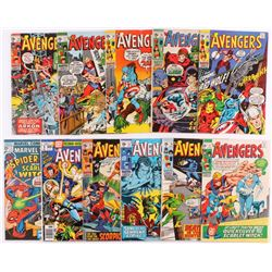 Lot of (11) Vintage The Avengers Marvel Comic Books