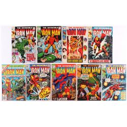 Lot of (9) Vintage The Invincible Iron-Man Marvel Comic Books