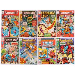 Lot of (8) Vintage Fantastic Four Marvel Comic Books