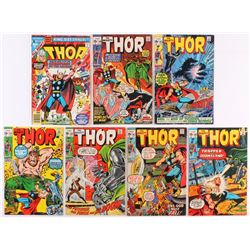 Lot of (7) Vintage The Mighty Thor Marvel Comic Books