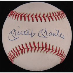 Mickey Mantle Signed OAL Baseball (PSA LOA)