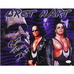 "Bret ""Hitman"" Hart Signed 11x14 Photo (JSA COA)"