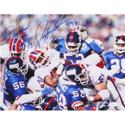 "Lawrence Taylor  Pepper Johnson Signed Giants 11x14 Photo Inscribed ""HOF 99"" (JSA COA)"