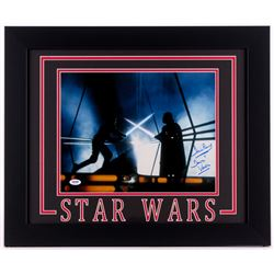 "David Prowse Signed ""Star Wars: The Empire Strikes Back"" 19.5x23.5 Custom Framed Photo Inscribed ""is"