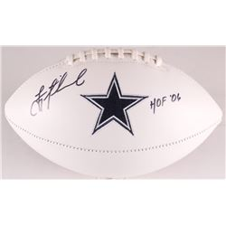 "Troy Aikman Signed Cowboys Logo Football Inscribed ""HOF 06"" (Aikman Hologram)"