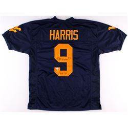 "Major Harris Signed West Virginia Mountaineers Jersey Inscribed ""CHOF '09"" (TSE Hologram)"