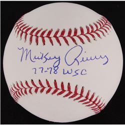 "Mickey Rivers Signed OML Baseball Inscribed ""77-78 WSC"" (MAB)"