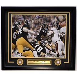 "Multi-Signed Steelers ""Steel Curtain"" 22x27 Framed Photo Display With (4) Signatures Including Dwigh"
