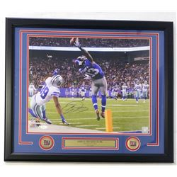 "Odell Beckham Jr. Signed Giants 22""x27"" Custom Framed Photo Display (JSA COA)"