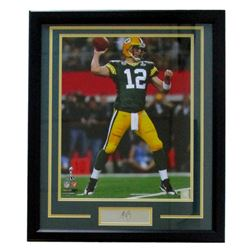 "Aaron Rodgers Packers 22"" x 27"" Custom Framed Photo with Laser Engraved Signature"