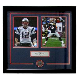 "Tom Brady Patriots 21"" x 23"" Custom Framed Photo with Laser Engraved Signature"