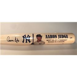 Aaron Judge Signed Yankees Limited Edition Commemorative Home Runs Baseball Bat (Fanatics)