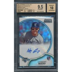 2011 Bowman Sterling Rookie Autographs Refractors #4 Anthony Rizzo #077/199 (BGS 9.5)