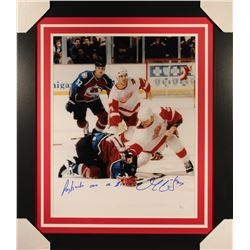 "Darren McCarty Signed Red Wings 23x27 Custom Framed Photo Inscribed ""Paybacks Are A B****"" (JSA COA)"
