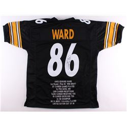 Hines Ward Signed Steelers Career Highlight Stat Jersey (TSE Hologram)