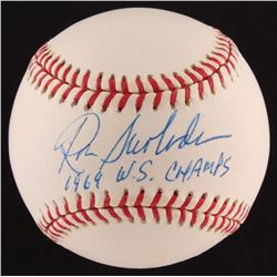"Ron Swoboda Signed ONL Baseball Inscribed ""1969 W.S. Champs"" (SOP COA)"