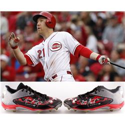 "Todd Frazier Signed 2015 Reds All-Star Season Game-Used Pair of Under Armour Cleats Inscribed ""2015"