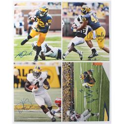 Lot of (4) University of Michigan Wolverines Signed 8x10 Photos with Amarah Darboh, Jehu Hesson, De'