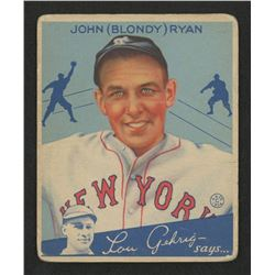 1934 Goudey #32 Blondy Ryan RC