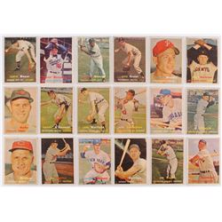 Lot of (18) 1957 Topps Baseball Cards with #121 Clete Boyer, #138 Minnie Minoso, #178 Don Bessent