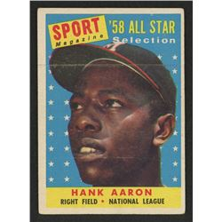 1958 Topps #488 Hank Aaron All Star