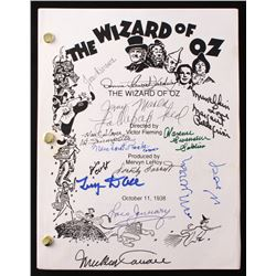 """The Wizard of Oz"" Full Movie Script Signed by (13) With Joan Kenmore, Jerry Maren, Meinhardt Raabe,"