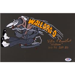 "William E. Eisenhart Signed 8x12 Original Hand-Painted Nose Art Panel Inscribed ""Wallaroo""  ""303 B6"