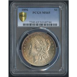 1896 $1 Morgan Silver Dollar (PCGS MS 65)