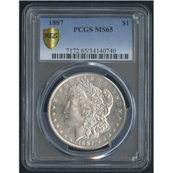 1887 $1 Morgan Silver Dollar (PCGS MS 65)