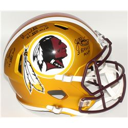Mark Rypien, Doug Williams, John Riggins Signed Redskins Full-Size Helmet With Inscriptions (JSA COA