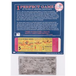 1956 New York Yankees World Series Game 5 Metal Ticket