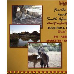 De Duine Safaris is offering 5 days for two hunters and includes the trophy fees for one Sable and o