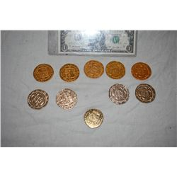 PIRATES OF THE CARIBBEAN LOT OF 10 SCREEN USED TREASURE COINS 48 A-GRADE